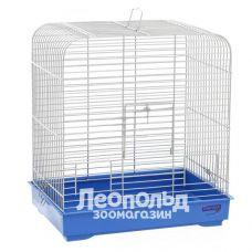 Клетка для птиц Природа Белла хром/бело-голубая 37 * 25 * 37см