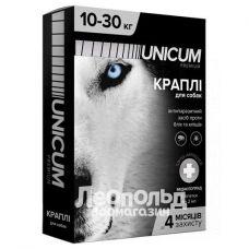 Капли для собак от блох и клещей Unicum Premium на 10-30кг