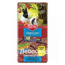 Целлюлозная подстилка Kaytee Clean & Cozy Apple Красная с палочками для грызения в подарок 1.31кг /