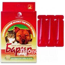 Капли для собак и кошек от блох и клещей Барьер 2-10кг