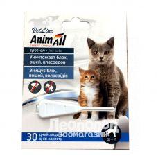 Капли для котов от блох, вшей и волосоедов Animall до 4кг