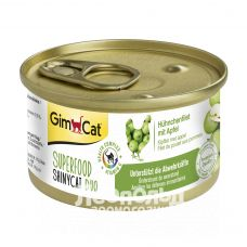 Консервы для кошек Gim Cat Shiny Cat Superfood курица и яблоко 70g