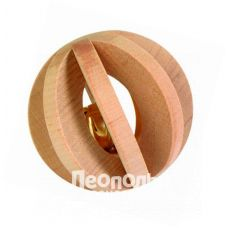 Игрушка для грызунов Trixie 6187 деревянная шарик с колокольчиком d = 6см